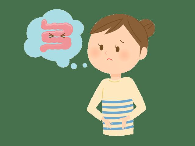 腸のことを考える女性